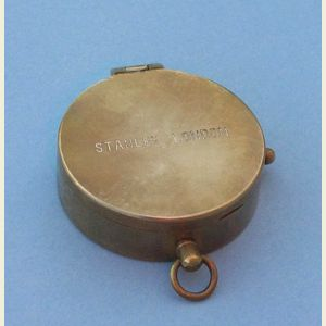 Engravable Antique Medium Brass Pocket Compass (Stanley London)