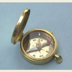 Medium Brass Pocket Compass