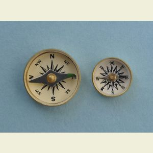 Military Special Forces Survival Button Compass