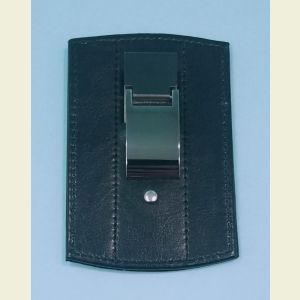 Leather and Stainless Steel Credit Card Wallet and Money Clip