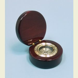 Engravable Aluminum Desk Compass in Piano Finish Case