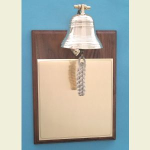 Brass Bell on Walnut Plaque