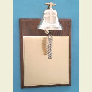 Brass Bell on Walnut Plaque
