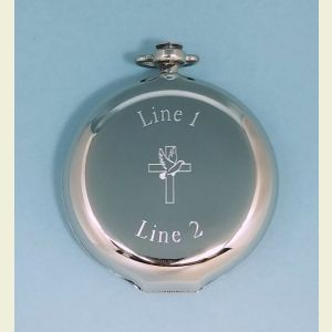 Dalvey Sport Large Pocket Compass Engraved (Cross and Dove)