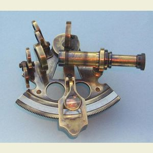 Antique Premium 3-inch Brass Sextant with Leather Case