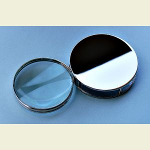 Chrome Plated Hinged Roll-out Magnifier