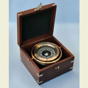Modern Fully Functional Gimbaled Boxed Compass