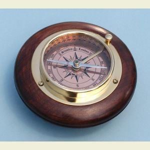 Small Brass Directional Desk Compass