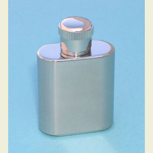 Engravable Miniature 1 Ounce Stainless Steel Flask
