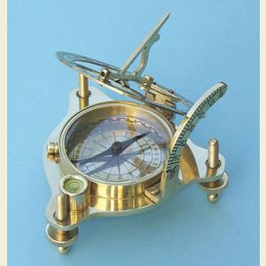 Premium Quality Brass Sundial Compass with Case