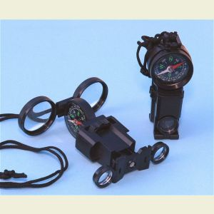 Survival Binoculars with Compass and Signal Mirror