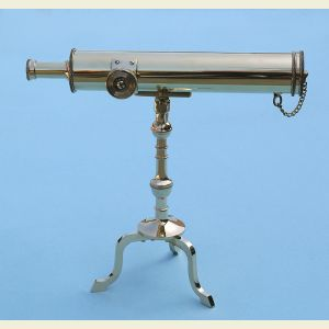 Engravable 10-inch Victorian Polished Brass Desk Telescope