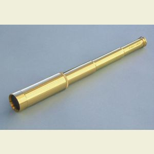 Engravable 25x30 Modern All Brass Pocket Telescope