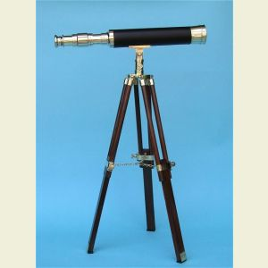 19-Inch Solid Brass Telescope on Hardwood Tripod