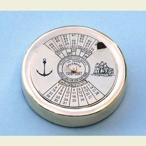 Brass Perpetual Calendar Paperweight