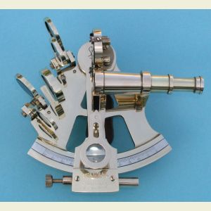 Engravable R.M.S. Titanic Limited Release 4-inch Brass Sextant with Case