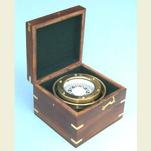 R.M.S. Titanic White Star Line Boxed Compass