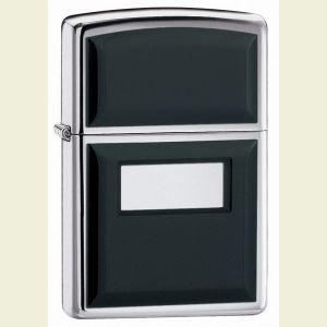 Zippo Chrome Ultralite Black Lighter