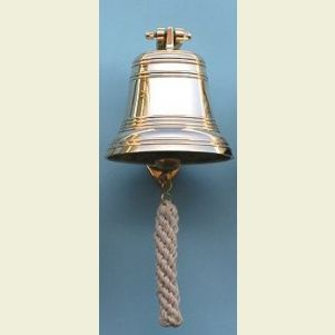 Six Inch Diameter Brass Ship's Bell