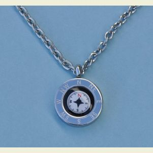 Cardinal Points Compass Pendant with Chain