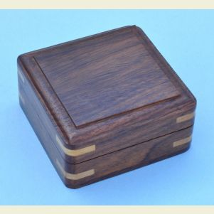 Small Plain Hardwood Storage Case