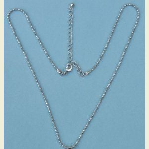 19 inch Stainless Steel Beaded Necklace Chain