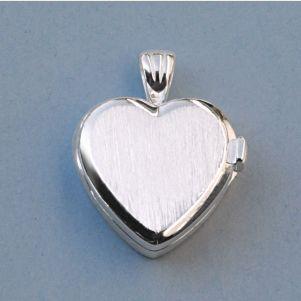 Engravable Elegant Heart Design Sterling Silver Compass Locket