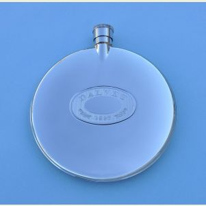 Dalvey Classic Stainless Steel Flask with Stainless Steel Badge
