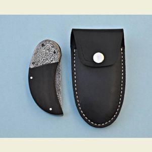 Damascus Clasp Pocket Knife