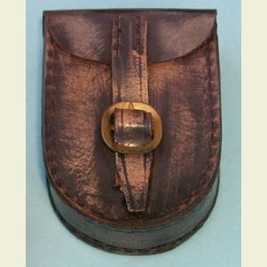 Distressed Brown Leather Case for Lensatic Compass