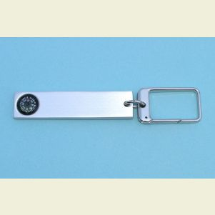 Aluminum Key Chain Compass and Luggage Tag