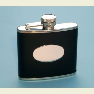 Leather Wrapped 4 ounce Flask