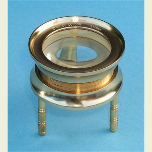 Engravable Large 3-Leg Brass Desk Magnifier