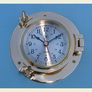 Medium Size Solid Brass Ship's Clock