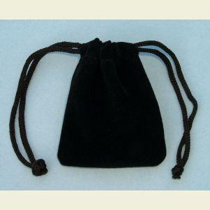 Small Black Velvet Pouch