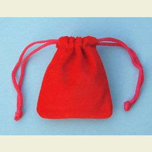 Small Red Velvet Pouch