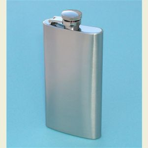 Tall Stainless Steel 5 ounce Hip Flask