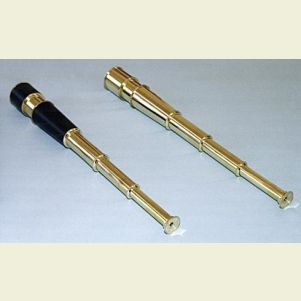 Engravable 18-inch Polished Brass Spyglass Telescope