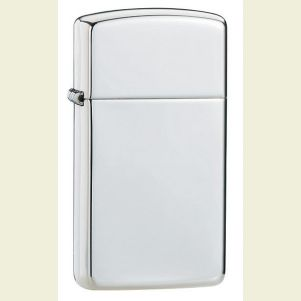 Engravable Zippo Slim Polished Sterling Silver #1500 Lighter