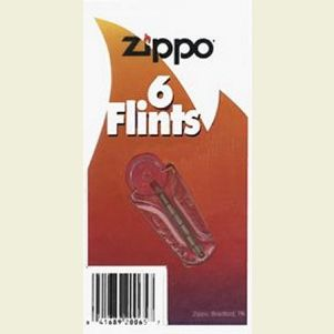 Zippo #2406N 6-pack Replacement Flints