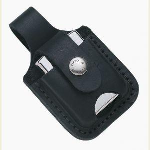 Zippo #LPTBK Black Lighter Pouch with Belt Loop